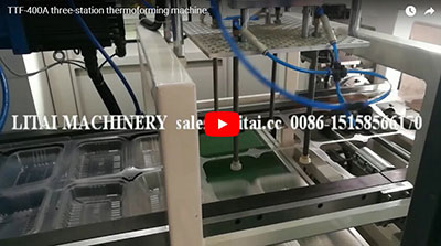 TTF-400A three-station thermoforming machine